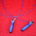 skipping rope, handle, blue