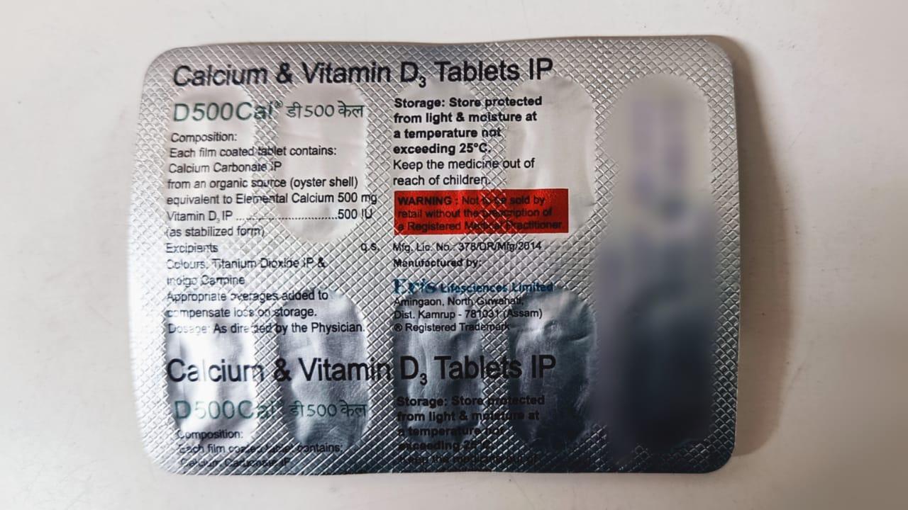D 500 Cal Tablet